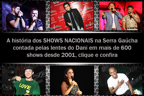 Shows nacionais Site do Dani